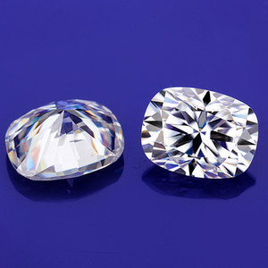 3x5~10x14mm White D Color VVS1 Cushion Cut Moissanite Stone With GRA Certificate