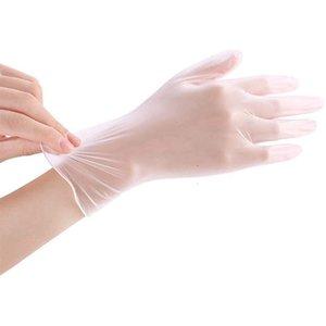 100 Packung klares Vinyl-Einweg-PVC-Latexpulver frei nicht steriler Lebensmittelsicherer Untersuchungshandschuhe