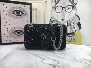 2021 Nuevo diseñador de diseñador de lentejuelas brillante bolsas de mensajero bolsos de mano bolsa de hombro bolsa de embrague bolso bolso bolso messenger bolsas mensajero bolsa de mensajero