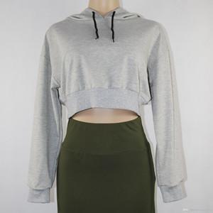 2020 Fashion Female Long sweatshirt Sleeve Hoodie Pullover Print Women's Sweatshirt Tops midriff-baring Ladies clothes robin hoodie