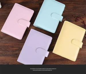 A6 Binder 5 Colors Leather Multi-function Diary Handbook Ring Shell Simple Portable Notebook Cover Case DHE2692