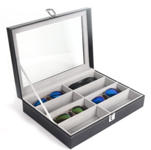 8-bit glasses case sunglasses case glasses storage box through the portable collection display box Velvet box contracted