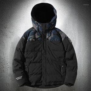 Puffer Jacket Men Camouflage Patchwork Bubble Jacket Japanese Fashion Winter Men Outdoor Fashion Streetwear Coat Thick1