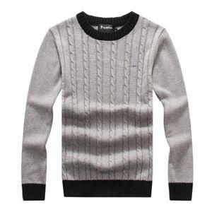 Suéteres de alta calidad de marca de marca O-cuello grueso cálido jersey hombres casual suéter a rayas otoño invierno ropa de punto tirón homme eden