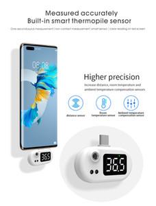 Thermômetro Thermômetro Telefone Móvel Inteligente Mini USB Termômetros Infravermelhos Eletrônicos Digital Nfrared Body TermômetroPara Android Tipo C Telefone C