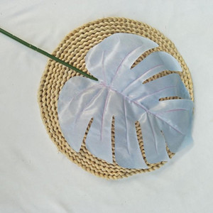 Colored Artificial Palm Leaves Plastic Monstera Leaves decorative flowers for wedding road leading Artificial Plants for home decor 155 N2