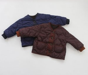 Winter Kids Girls Boys Coat Thicken Fleece Cotton Jackets&coats Korean Children Kids Clothings