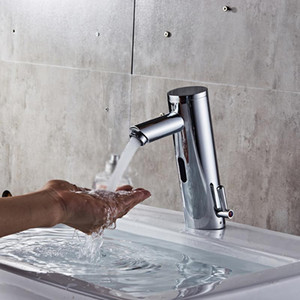 A-Automatic Infrared Sensor Bathroom Smart Touchless Sink Faucet Basin Water Tap Single Handle Deck Mounted for Kitchen Bath