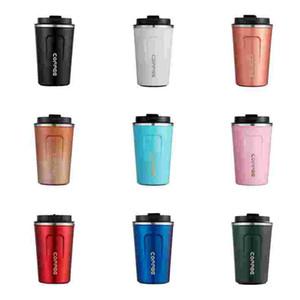 Kahve Fincanı Paslanmaz Çelik Termos Kupası Kupa 16 Renkler Yüksek Kaliteli Su Şişesi Yaratıcı Vakum Erkekler ve Kadın Taşınabilir Araba Kupası LLS119