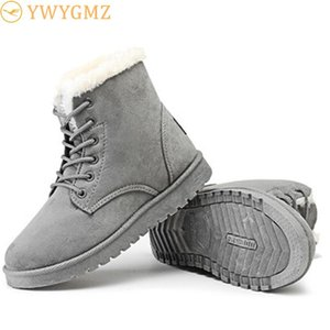 BLWBYL HIVER CHAUSSURES FOURRES Fourrure Chaud Bottines Femmes Botas Mujer Lace up Mesdames Hiver Femme Chaussures Femme Drop Shipping
