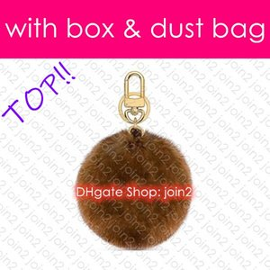 Top. M69563 Plush FUR BAG CHARM AND KEY HOLDER Designer Fashion Dragonne Car Key Holder Pouch Coin Purse Mini Pochette Accessoires Cles