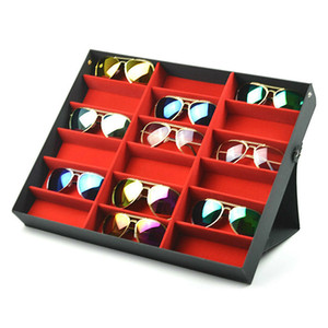 18 Grids Eyeglass Sunglasses Glasses Storage Display Box Holder Case Organizer GQ Z1123