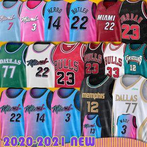 Jimmy Michael Butler Basketball Jersey MiamiHeats ChicagoBullsDwyane Tyler Doncic Wade Herro Ja Luka Morant Dragic Nunn Adeb