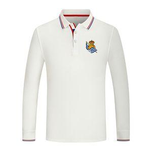 2021 Real Sociedad Real New Manga larga Sports Polo Sports Polo Algodón Color Puro Casual Hombre Polo Camisa de golf de alta calidad Jersey