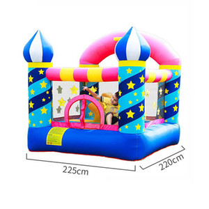 Star Inflatable Bouncer Garden Supplie Home Small Trampoline Kids Outdoor Playground Stars Naughty Castle with Basketball Hoop Summer Party