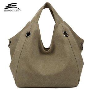 الترويج 100٪ cotton المرأة الصلبة حقيبة الكتف الأزياء عارضة قماش الأفاق حقائب عالية الجودة سعة كبيرة حمل الحقائب