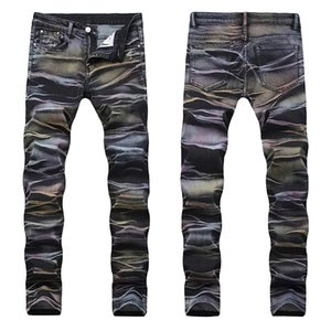 Mens jeans Nuevos pantalones de mezclilla Denim estilo casual largo Temporada Jeans Stretch Slim Rainbow Alta Calidad Tallas grandes