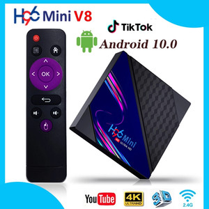 TV Box Android 10.0 H96 Mini V8 2GB 16GB 1080P 4K 3D RK3228A Quad Core 2.4GHz WIFI H96Mini Smart TV Set Top Box 1GB 8GB