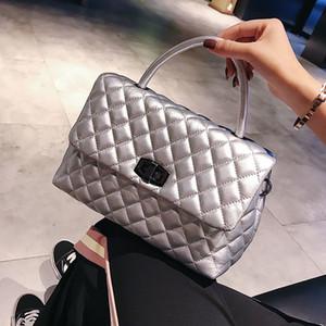 Vintage Diamante Lattice Handbag Mujeres Crossbody Bolsos 2021 New Ladies Messenger Bags Totes casuales Monederos Monederos High Qualiy