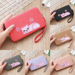 KcjO Zip Handbag Butterfly Lady Long Leather Korean dener wallet pink Fashion Wallet Coin Purse New Tassel Large