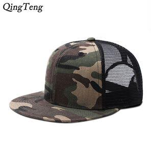 Летние дышащие сетки Snapback Bayball Caps 2020 Мужчины Регулируемые повседневные Horras Planas Hip Hop Flat Hats Casquette Homme Luxe J1225