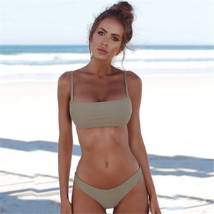 Sexy Swimwear Women 2020 Solid Push Up Bathing Suit Low Waist Thong Beachwear Plus Size Bikini Set New Swimsuit Female Q1127
