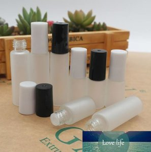 5ML Frosted Clear Glass Bottle,5CC Mini Sample Vial Essential Oil Bottle Lotion bottle With Black,White Screw Cap Free shipping