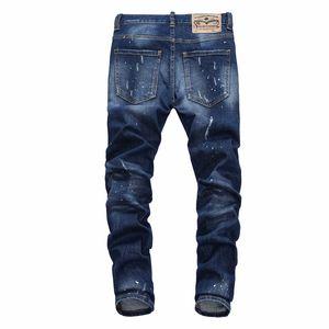 2020 korean fashion style mens fashion designer luxurys ripped hole color dot print high fashion mens skinny jeans casual rock revival jeans