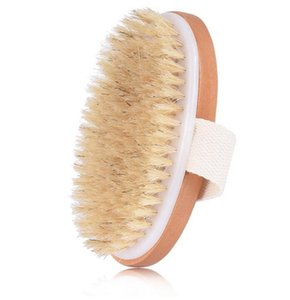 10pcs Dry Skin Body Soft Natural Bristle Brush Wooden Bath Shower Bristle Brush SPA Body Brush without Handle