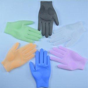 1PAIR Многоразовые силиконовые перчатки Высокотемпературный водонепроницаемый маслостойкий инструмент для мытья посуды 201130