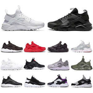 Huarache Running Shoes 4.0 1.0 Hommes Femmes Triple Blanc Noir Red Gris Huaraches Huarache Hommes Baskets Sports en plein air Sneakers à pied Chaussure de jogging