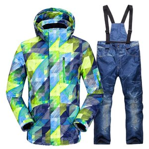 Лыжные куртки лыжные костюмы мужские зимние теплые ветрозащитный водонепроницаемый открытый спорт снег и брюки мужское оборудование сноуборд куртка