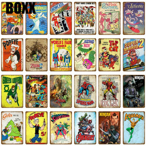 Cartoon Movie Comics TV Series Metal Signs Retro Poster Vintage Art Kraft Wall Painting Decorative Plate Bar Pub Kids Room Decor