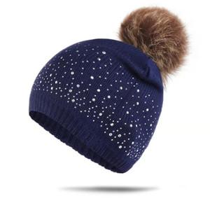 Bebé taladro de punto Pompon Sombreros 6 Color diseño niñas Beanie Twist Wool Otoño Invierno Niños Sombreros Soild Pompon Sombreros Cálidos PPA3028