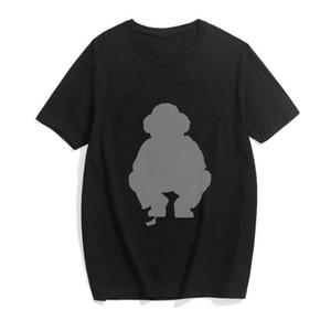 Hip Hop Polo Bear Moda Impressão Punk T Camisa Homens Oversized Tops Streetwear Verão Homens T-shirt Gothic Letter Tee Dydhg251