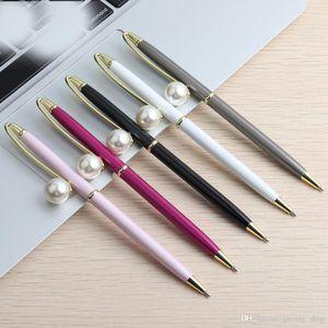 El material de la pluma del bolígrafo de la perla grande está girando el bolígrafo para los estudiantes de la oficina de la escuela de papelería de regalo