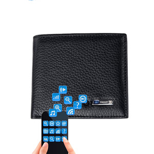 Smart Wallet Men Genuine Leather High Quality Anti Lost Intelligent Bluetooth Purse Male Card Holders Suit for Android