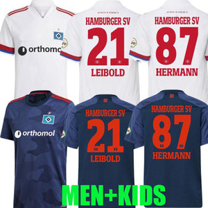 2020 2021 هامبرغر SV Mailleots De Foot Soccer Jersey Kittel Dudziak Wood Terodde Leibold Hamburger 20 21 كرة القدم الرجال والاطفال قميص