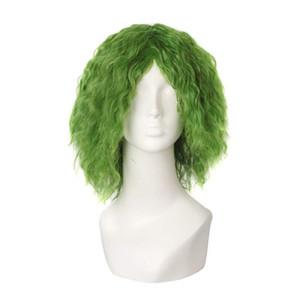 91COSPLAY JEKUN Клоун Поддельные волосы Джокер Зеленый Curl Heath Ledger Animation Ролевая роль PLAY COS WIG