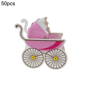 50pcs DIY Baby Carriage Candy Box Birthday Boy Baby Shower Favors Shower Souvenirs Kids Party Decoration Birthday Gifts