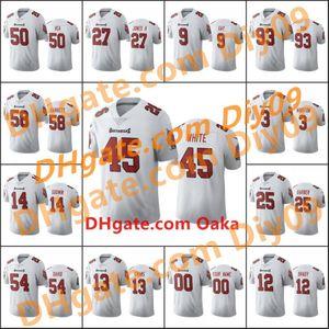 Super 2021Bowl TampaBayBuccaneersMen #12 Tom Brady 14 Chris Godwin 13 Mike Evans Custom White 2020 Vapor Limited Jersey