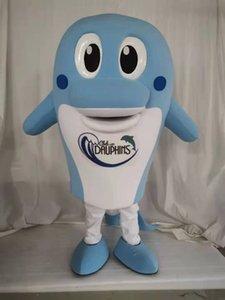 Alta Qualidade Real Pictures Dolphin Mascot Traje Para Personagem De Banda Desenhada Do Partido Mascote Trajes Para Venda Frete Grátis Suporte Personalização