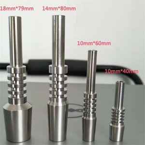 Unghie in titanio Kit micro NC Kit Kit invertito 10mm 14mm 18mm per fumare Silicone Acqua Tubo olio