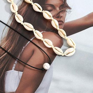 Children's Jewelry Bijoux Femme Sets Sea Style White Color Chic Retro Creative Natural Shell Piece Necklace