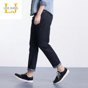 Leijijeans plus Größe S-6XL Publish WASHED Denim Mid Taille Ganzkörperansicht Lose Freund Blau Frauen Jeans