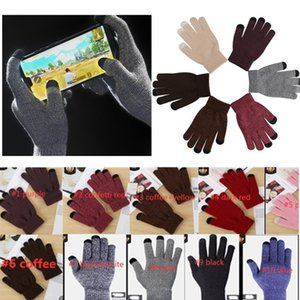 Unisex Winter Touch Screen Gloves Solid Conffeti Fleece Glovers Warm Knitted Slouchy Mittens Outdoor Cycling Ski Glove DHL SHIPPING LY112502