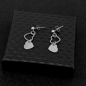 Stainless Steel Love Earrings Men And Women Hypoallergenic Girl Ear Clips New Korean Fashion 2020 Jewelry Accessories Wholesale