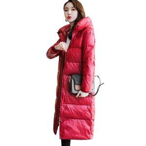 S-XL autumn winter Women Plus size Fashion 90% White duck down Down jacket hoodie long warm Jackets Female winter coat clothes