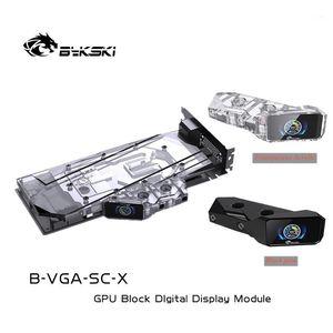 Bykski Temperature Digital Display Bridge module For VGA Water Block Acrylic LCD Screen temperature control Graphics card1