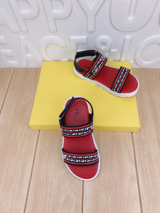 2021SS Novo Designer Crianças Sapatos Meninos Sandles Spot Spot Shoes 26-35